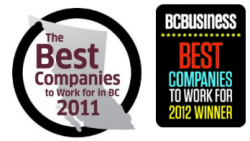 BC Best place to work awards